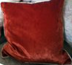 Two Tone Terracotta Cushion - Side One