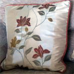 Two Tone Terracotta Cushion - Side Two