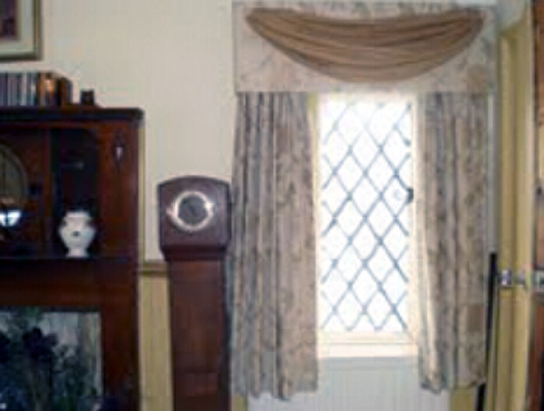 Cornice Box With Voile Curtains